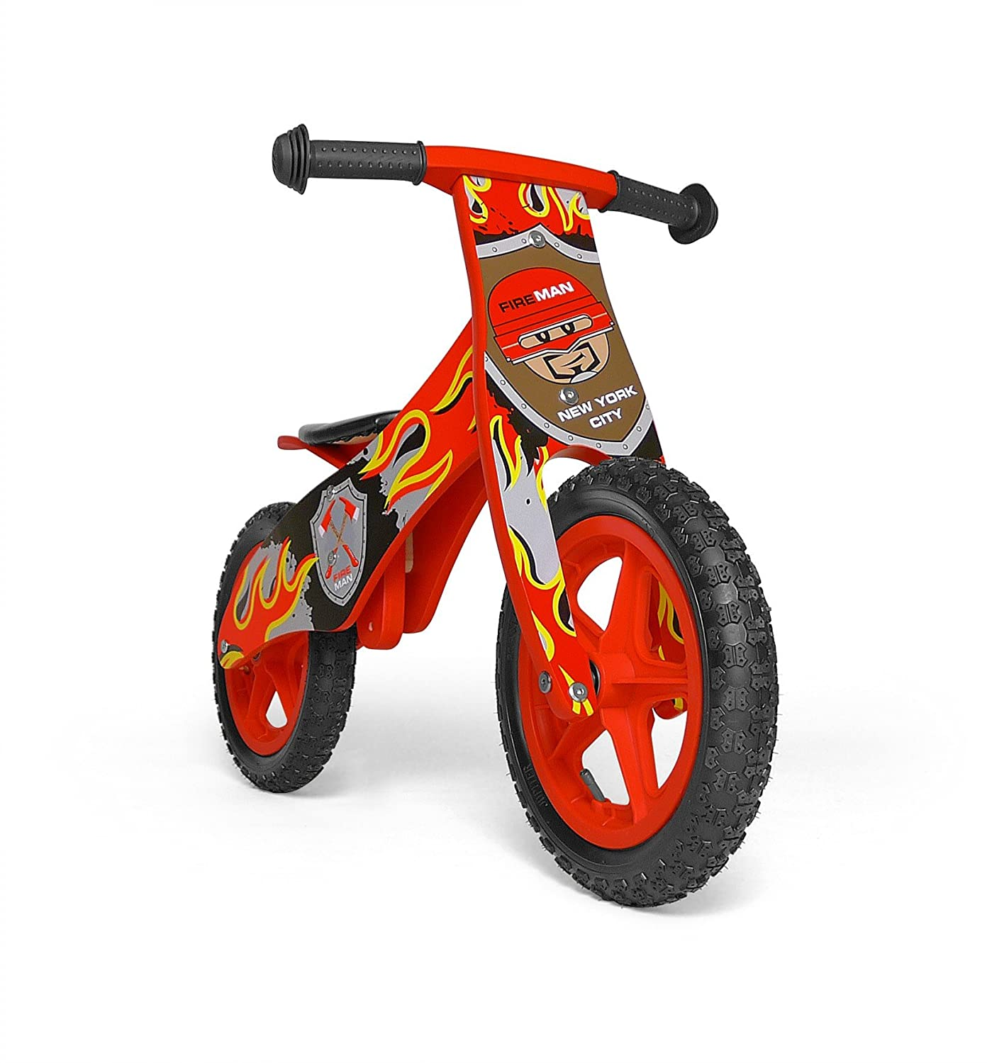 8056b507055 MILLY MALLY 20905 Wooden Balance Bike Duplo Fireman, Multi-Colour:  Amazon.co.uk: Toys & Games