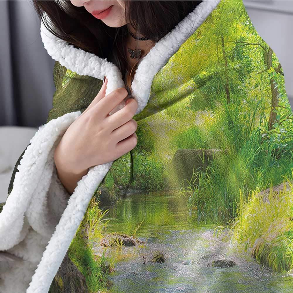 Amazon.com: Manta de viaje para el bosque con rocas y ...