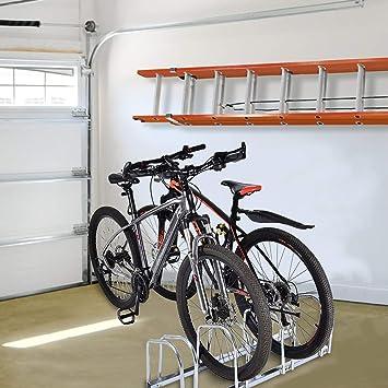 para Toda Familia Montaje a Pared o Suelo EBTOOLS Aparcamiento para 3 Bicicleta Soporte para Bicicletas