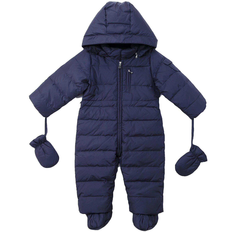 Oceankids Baby Säugling Mädchen Jungen Schneeanzug mit Kapuze 0-24 Monate