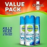 Dettol All-in-One Disinfectant Spray Crisp Linen, 400 ml, Pack of 3