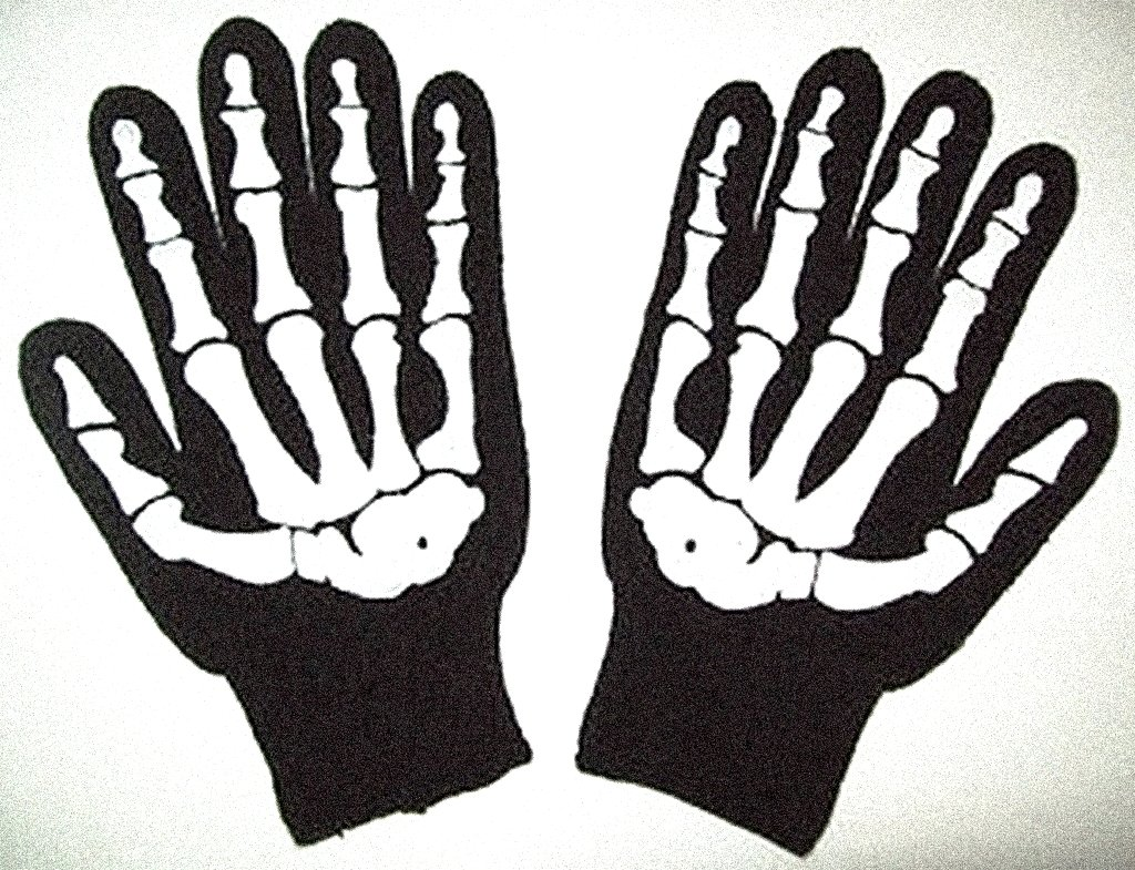 Size Large Knit Screenprinted Barry Weiss Skeleton Gloves - Goth Black Bone Knit New Knit Skeleton Gloves:Storage Wars-Style Paintball Winter Biker Motorcycle Telemosaic | CheapWin SKELETONGLOVE
