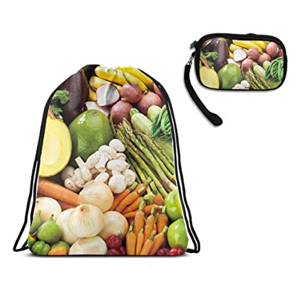 Amazon.com: Mochila con cordón para gimnasio, verduras ...