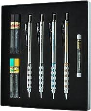 Pentel GraphGear 1000Premium Set de regalo con Refill Leads & gomas de borrar (pg1000bxset)