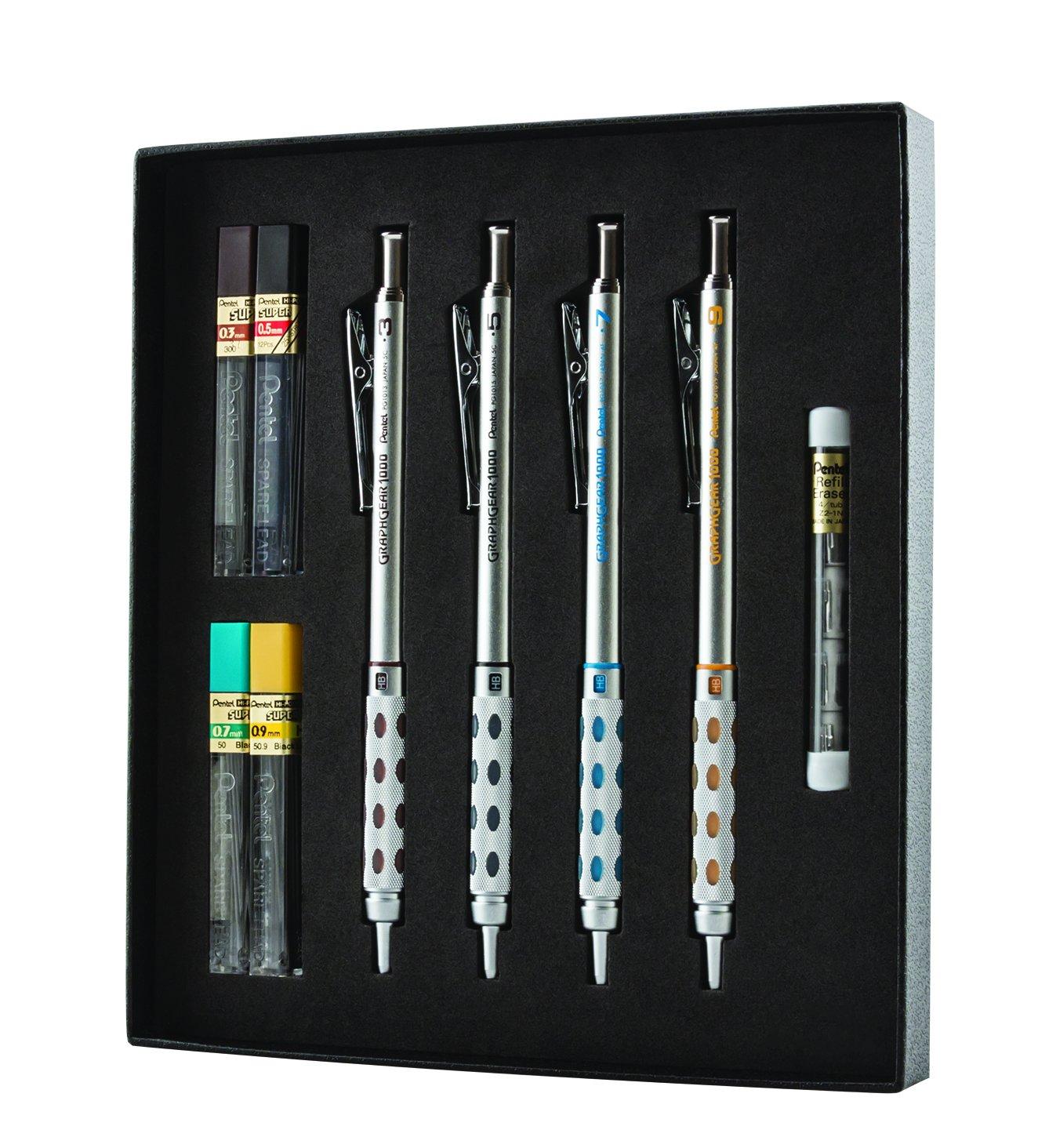 Set Regalo Lapices Mecanicos Pentel Arts GraphGear 1000