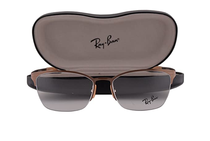 9d0bb24e79167 Image Unavailable. Image not available for. Colour  Ray Ban RX6345  Eyeglasses 52-17-135 Brushed Light Brown ...