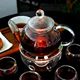 ウォーマー付きガラス紅茶 ティーポットセット(大) 1200m