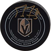 $107 » Marc-Andre Fleury Vegas Golden Knights Autographed October 10, 2017 Inaugural Opening Night Official Game Puck - Autographed NHL Pucks