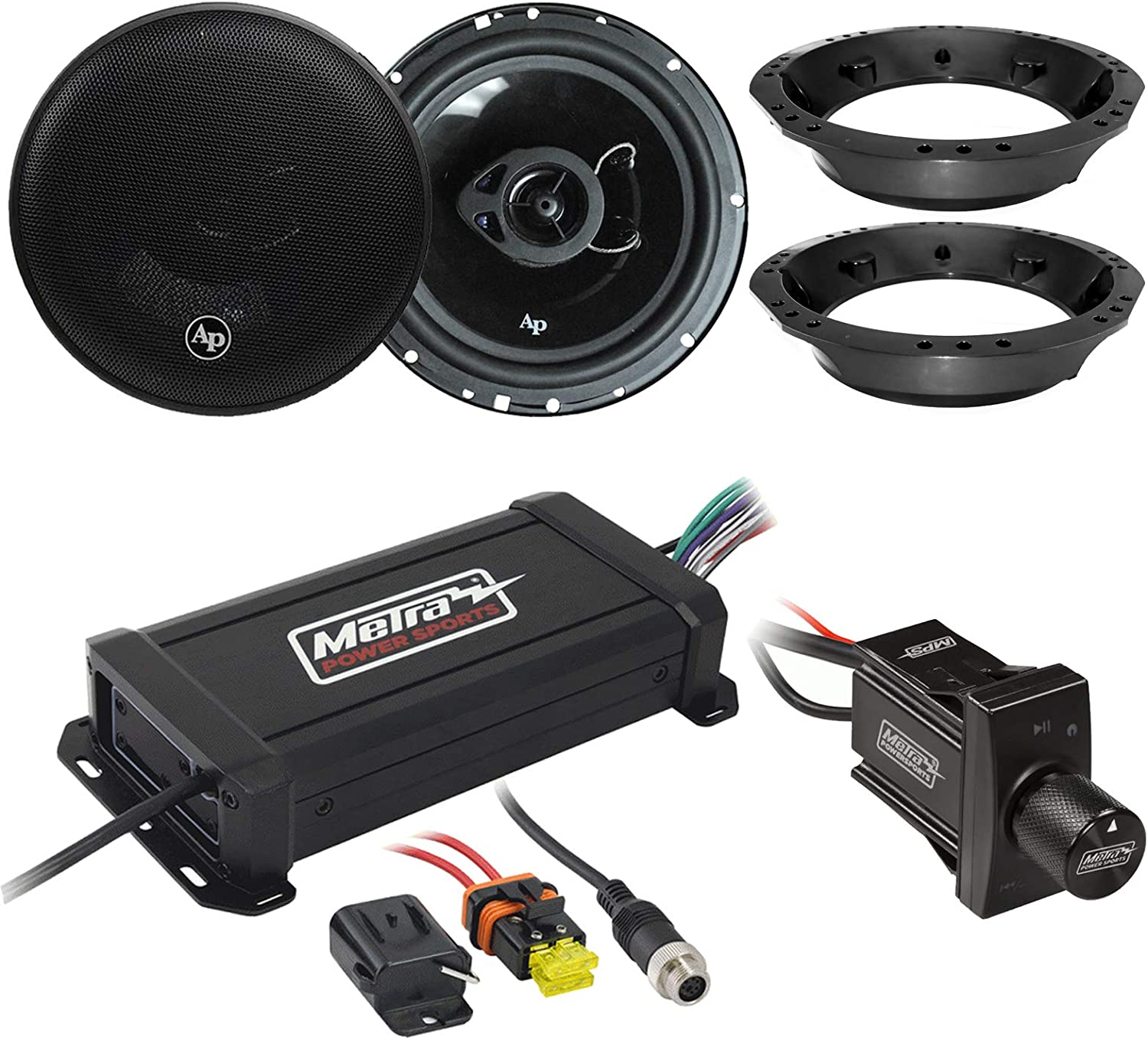 Marine Bluetooth Audio Receiver Wireless Connection To Amplifier Audiopipe