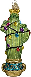 Old World Christmas Ornaments: Christmas Cactus Glass Blown Ornaments for Christmas Tree