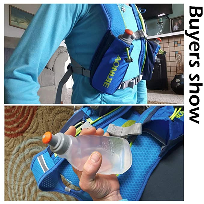 Amazon.com : Azarxis BPA Free Water Bottles Flask Leakproof for Running Hydration Belt Fanny Packs 170 250ml for Triathlon Marathon Hiking Cycling Climbing ...