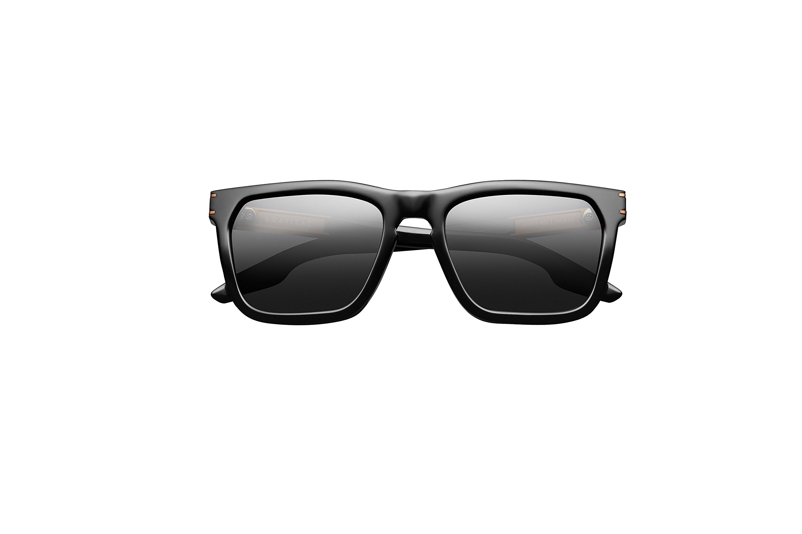 IVI Eyewear Gravitas Polished Black And Copper with GREY AR framed Sunglasses