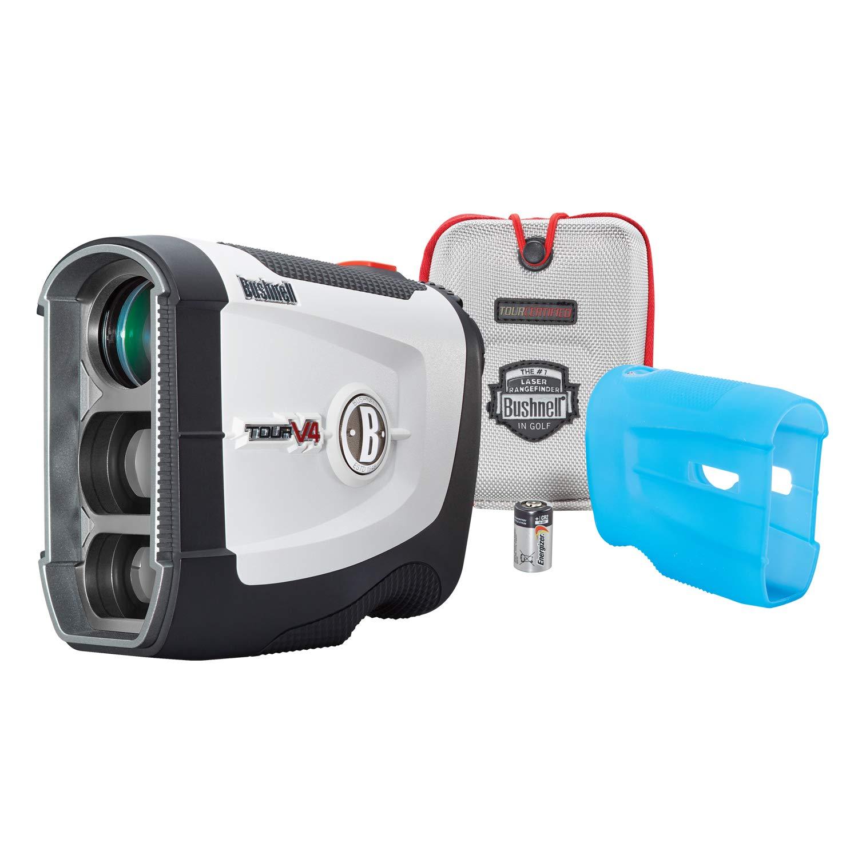 Bushnell Tour V4 JOLT Golf Laser Rangefinder, Patriot Pack Version, Protective Skin included by Bushnell