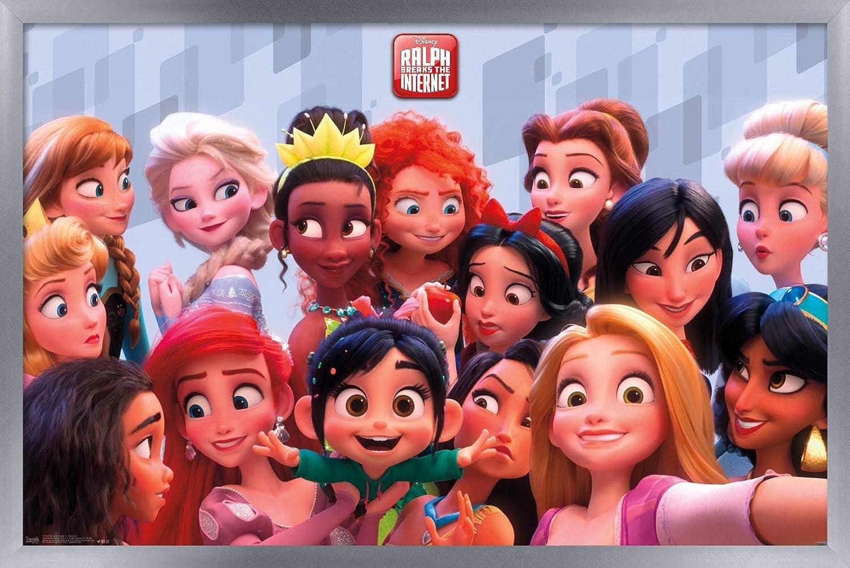 trends international disney wreck ralph breaks the internet princess wall poster 22 375 x 34 premium unframed