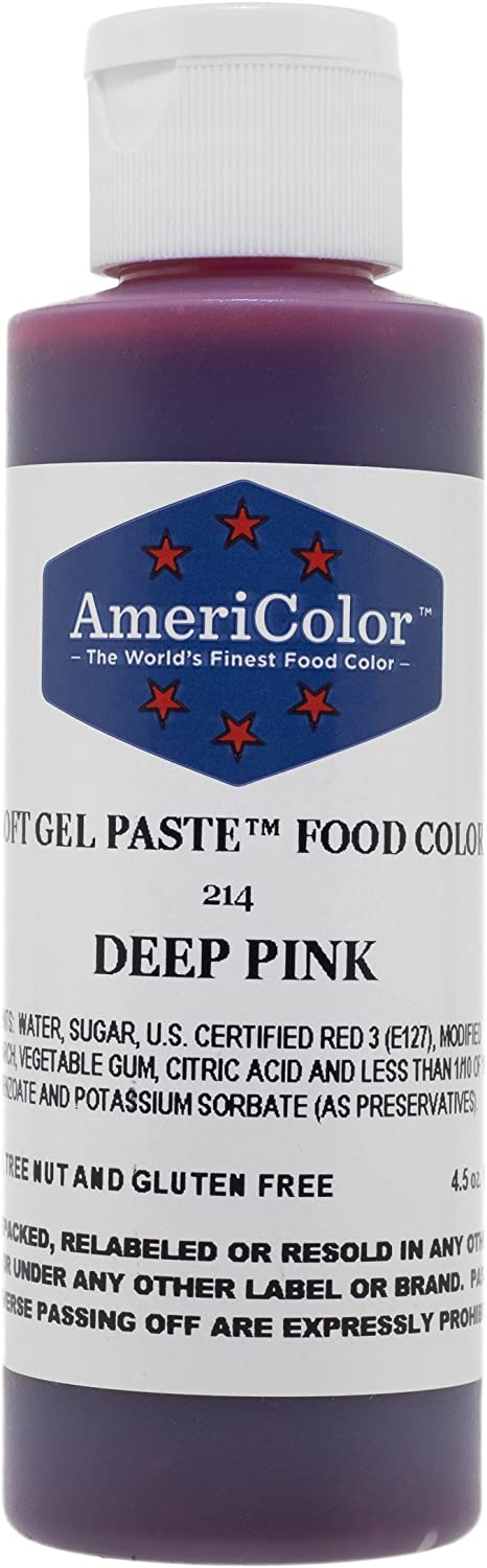 Americolor Soft Gel Paste Food Color, 4.5-Ounce, Deep Pink