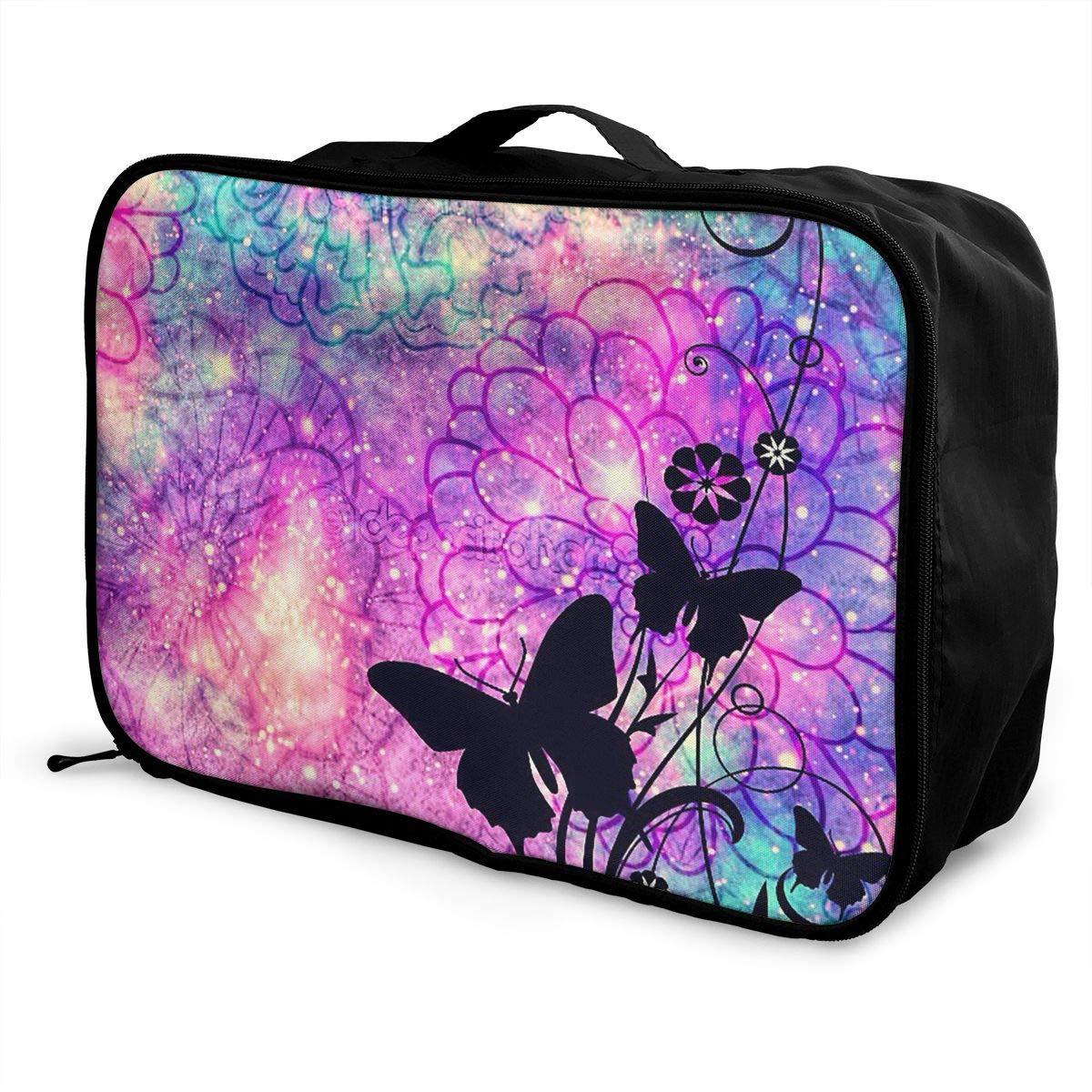 Travel Luggage Duffle Bag Lightweight Portable Handbag Fantasy Butterfly Print Large Capacity Waterproof Foldable Storage Tote