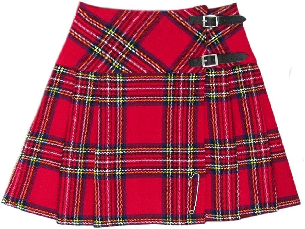 Tartanista - Kilt/Minifalda Escocesa con Correas - 41, 9 (16, 5 ...