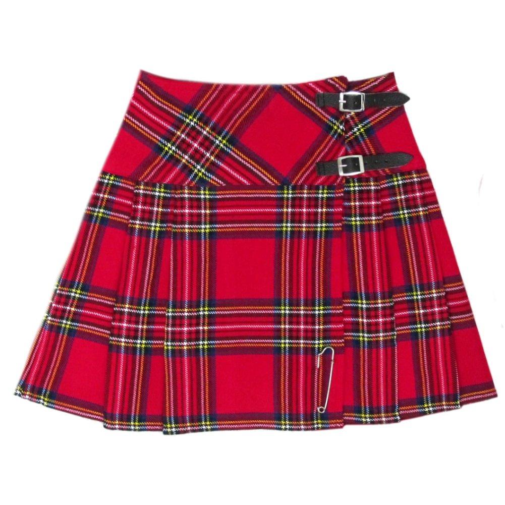 Mini kilt/jupe pour femme -tartan/écossais - Royal Stewart - 42 cm (longueur) Tartanista KA-SKIRT_16.5_ROYAL_STEW