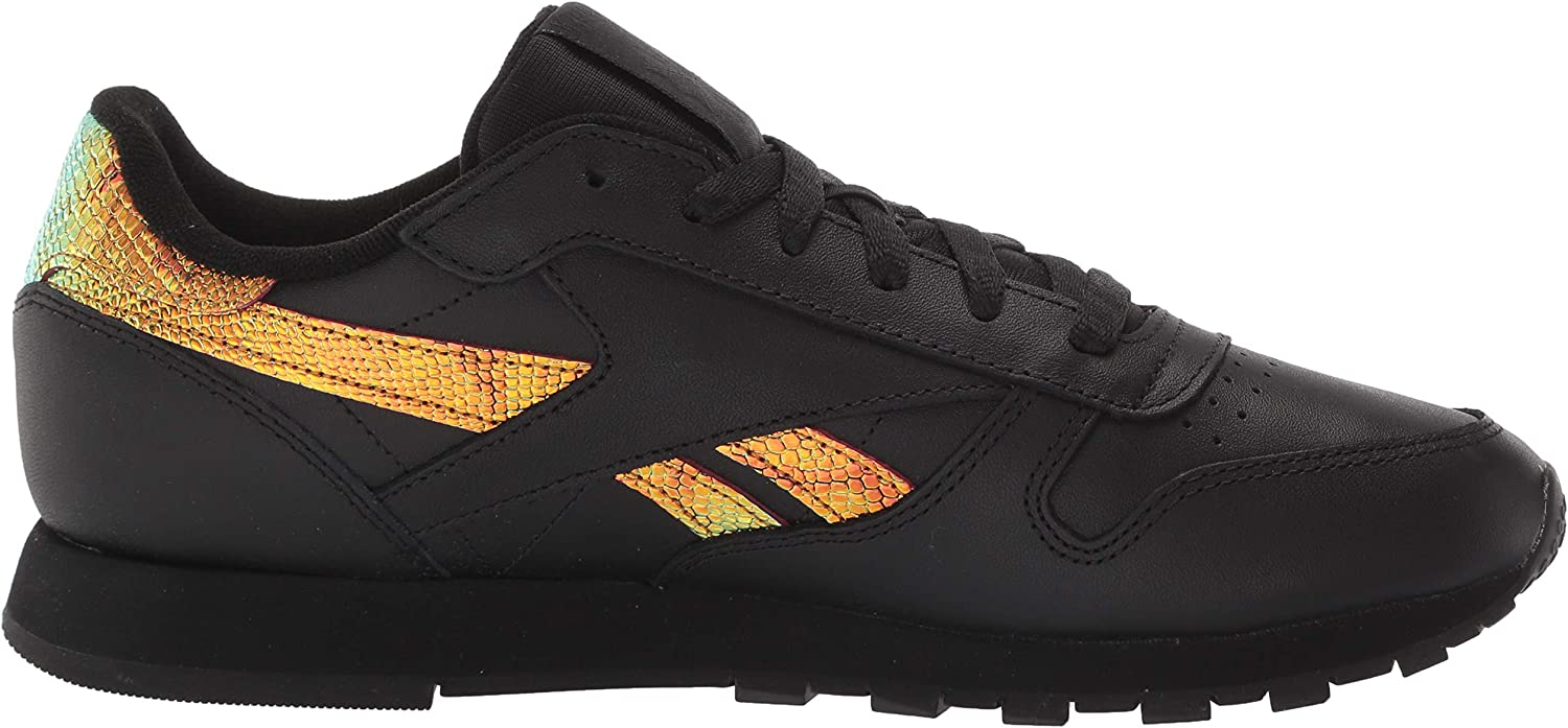 Reebok Classic Leather, Baskets Femme Noir Intense Black 0