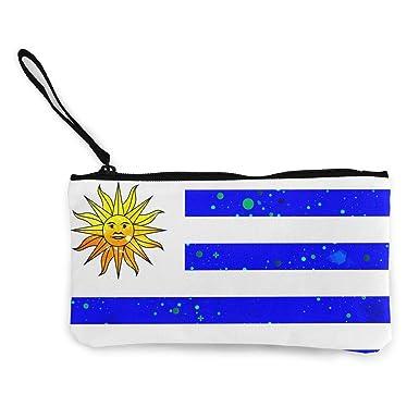 Amazon.com: Uruguay bandera estrella monedero monedero de ...
