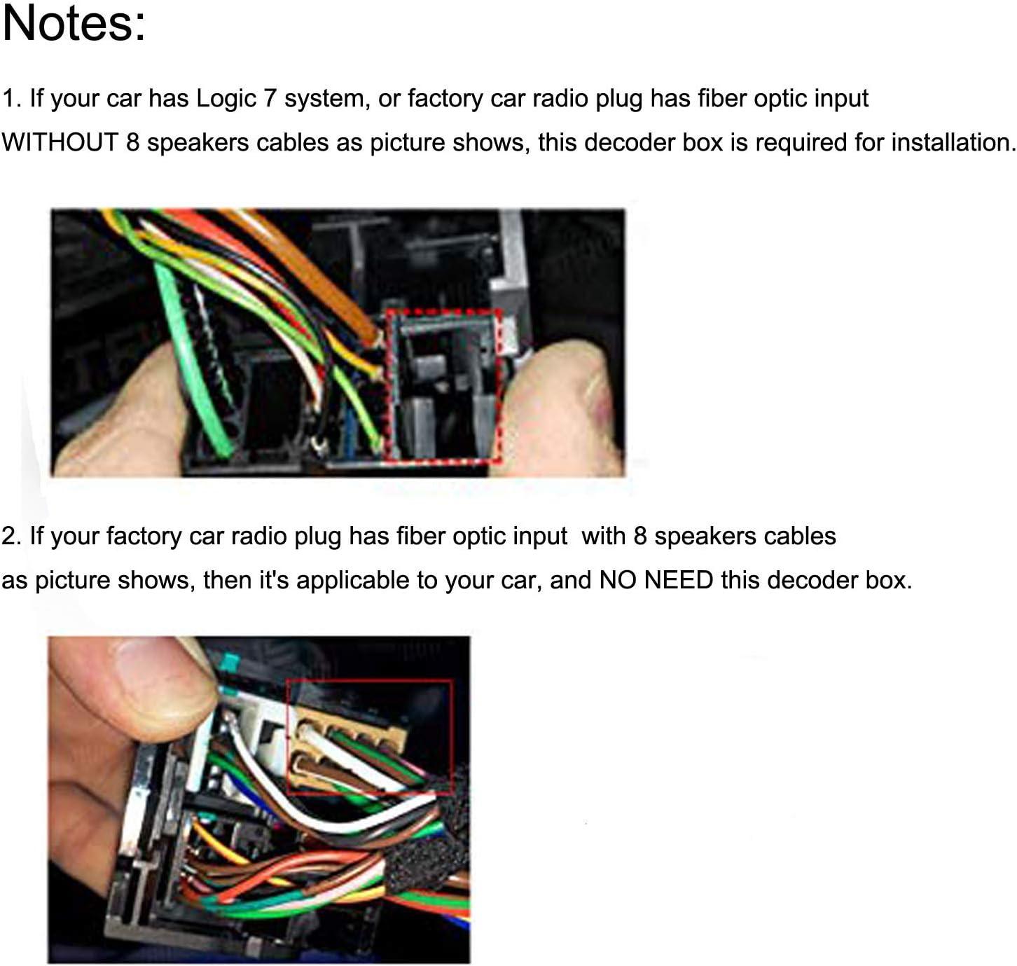 E92 E93 2005-2012 M3 3-Serie SMARTNAVI Autoradio-Lichtwellenleiter-Decoder f/ür die Glasfaserkabel f/ür BMW E90 E91