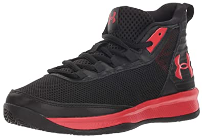 new products ff622 b1c86 Under Armour Boys  Pre School Jet 2018 Basketball Shoe Black (001) Red