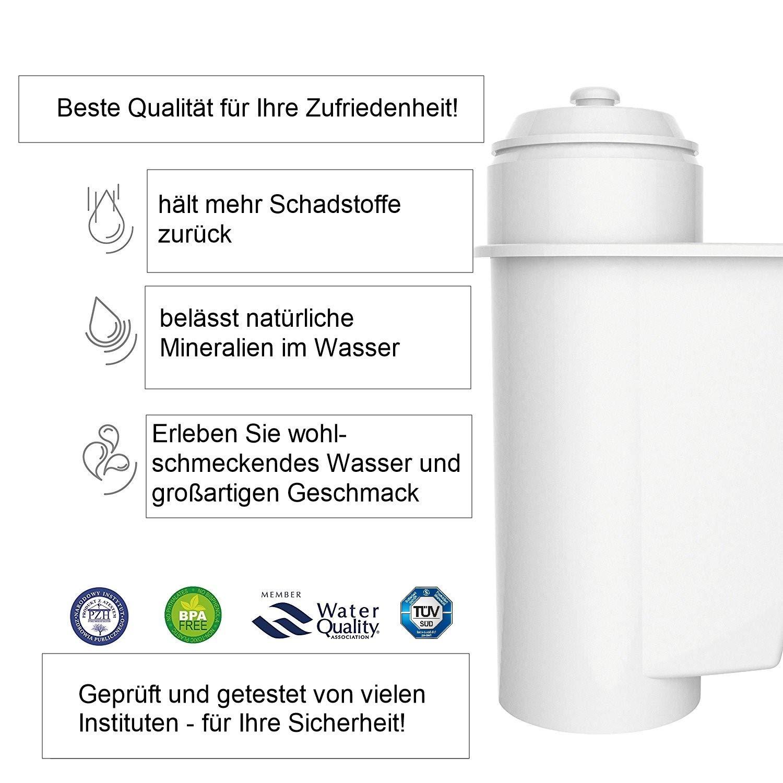 Filtros de Agua para Bosch VeroBar Siemens EQ3 EQ5 EQ6 EQ8 10 Unidades AquaCrest EcoAqua 9