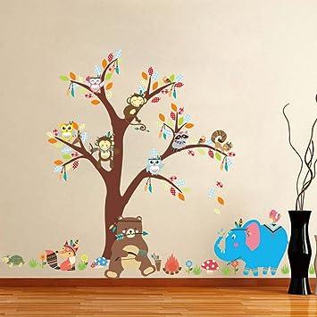 Elecmotive Niedliche Tiere Wandsticker Kinderzimmer Babyzimmer