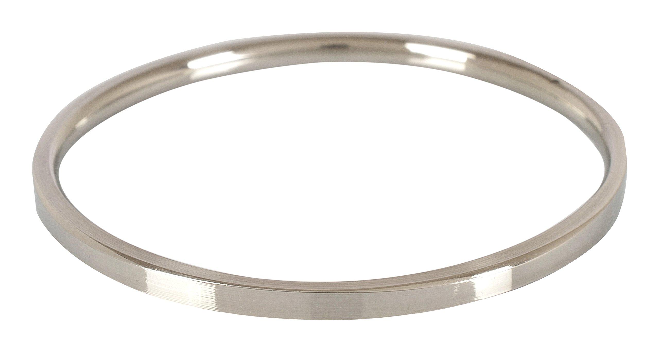 "The Amritsar Store Punjabi Ladies Kada (Stainless Steel, Plain) 0.1"" Thickness product image"