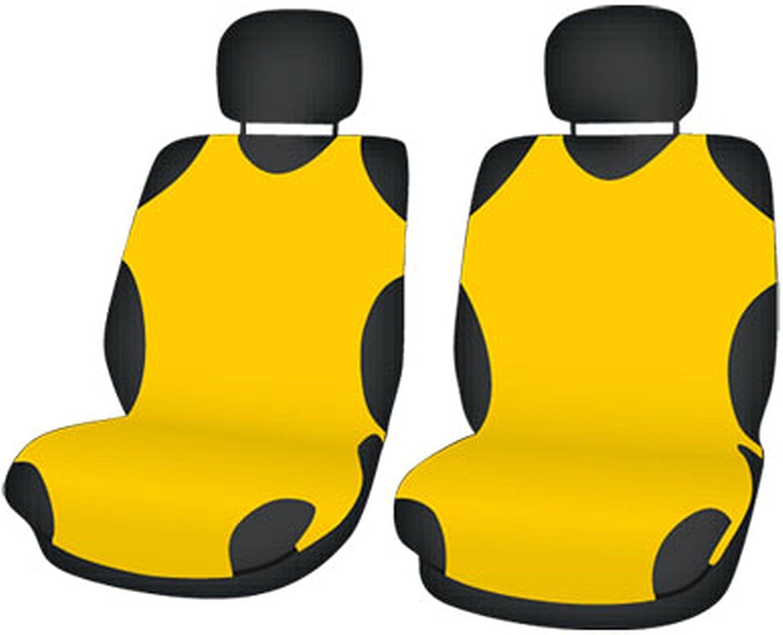 Zentimex Z706267 Sitzbezüge Vordersitze T Shirt Design Baumwolle Gelb Auto