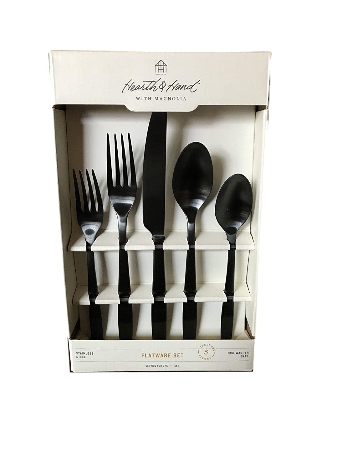 Hearth and Hand with Magnolia Flatware Set 5pc Matte Black