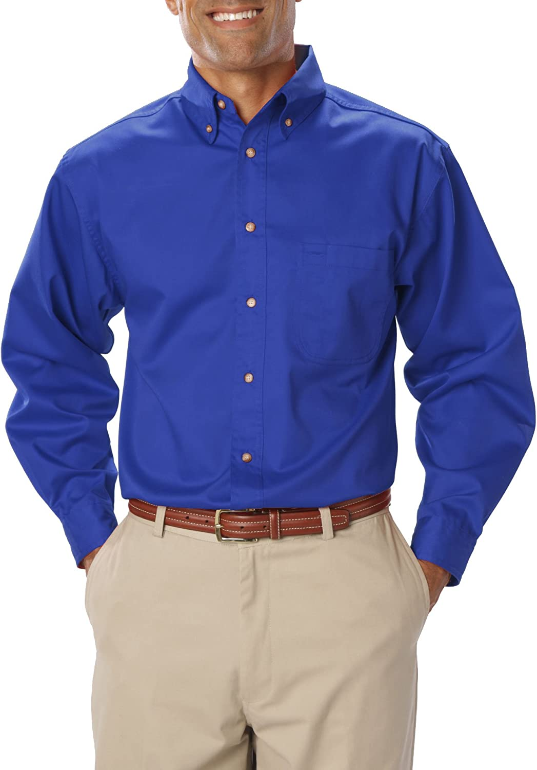 Blue Generation BG7217 Mens Long Sleeve Teflon Treated Twill