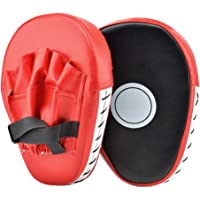 PULNDA 1 par Almohadillas de Boxeo Objetivos a Mano, Paos de Boxeo para Kick Boxing Muay Thai MMA-Almohadillas Entrenamiento - Manoplas de Boxeo