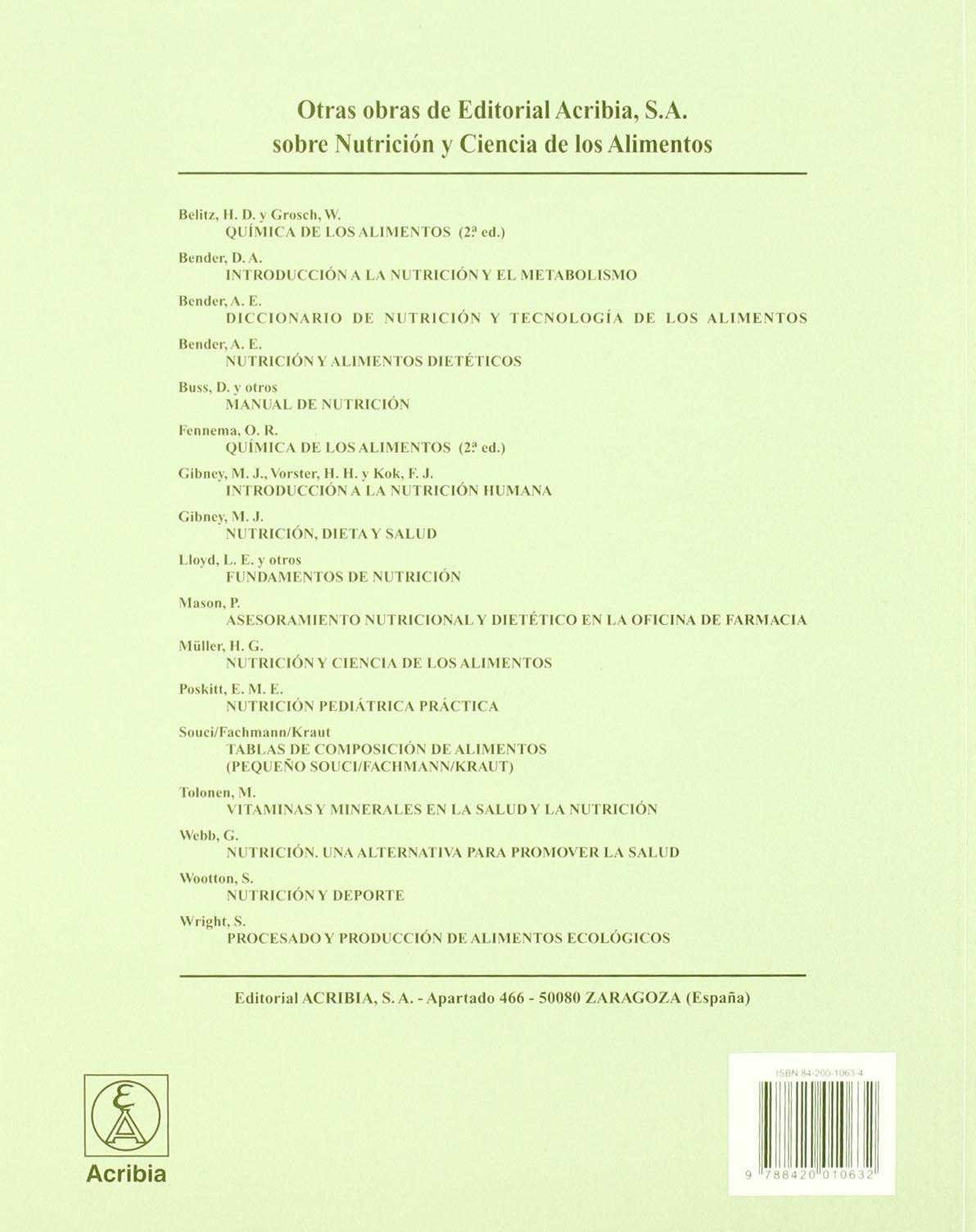 Nutrición y metabolismo: Amazon.es: M. J ., MACDONALD, I. A. Y ROCHE, H. M. GIBNEY: Libros