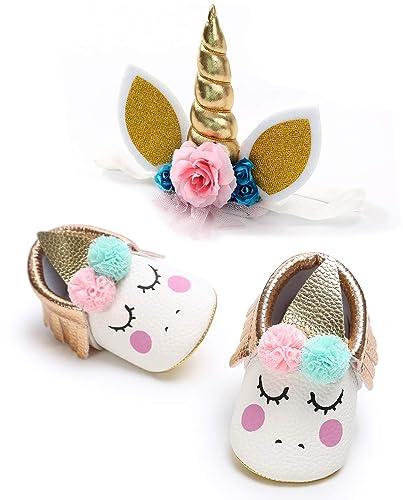 Amazon.com: Zapatos de unicornio para bebé y niña, suela ...