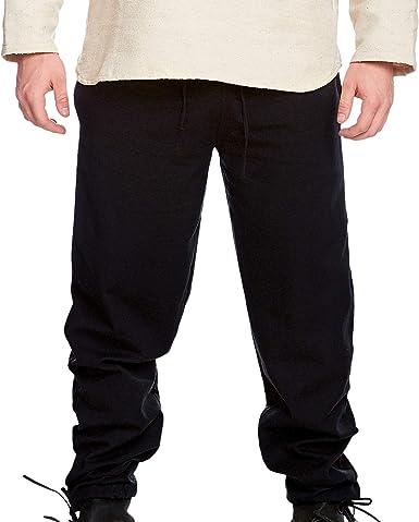 Pantalón de Hombre Medieval Arvo Largo con Banda elástica algodón ...
