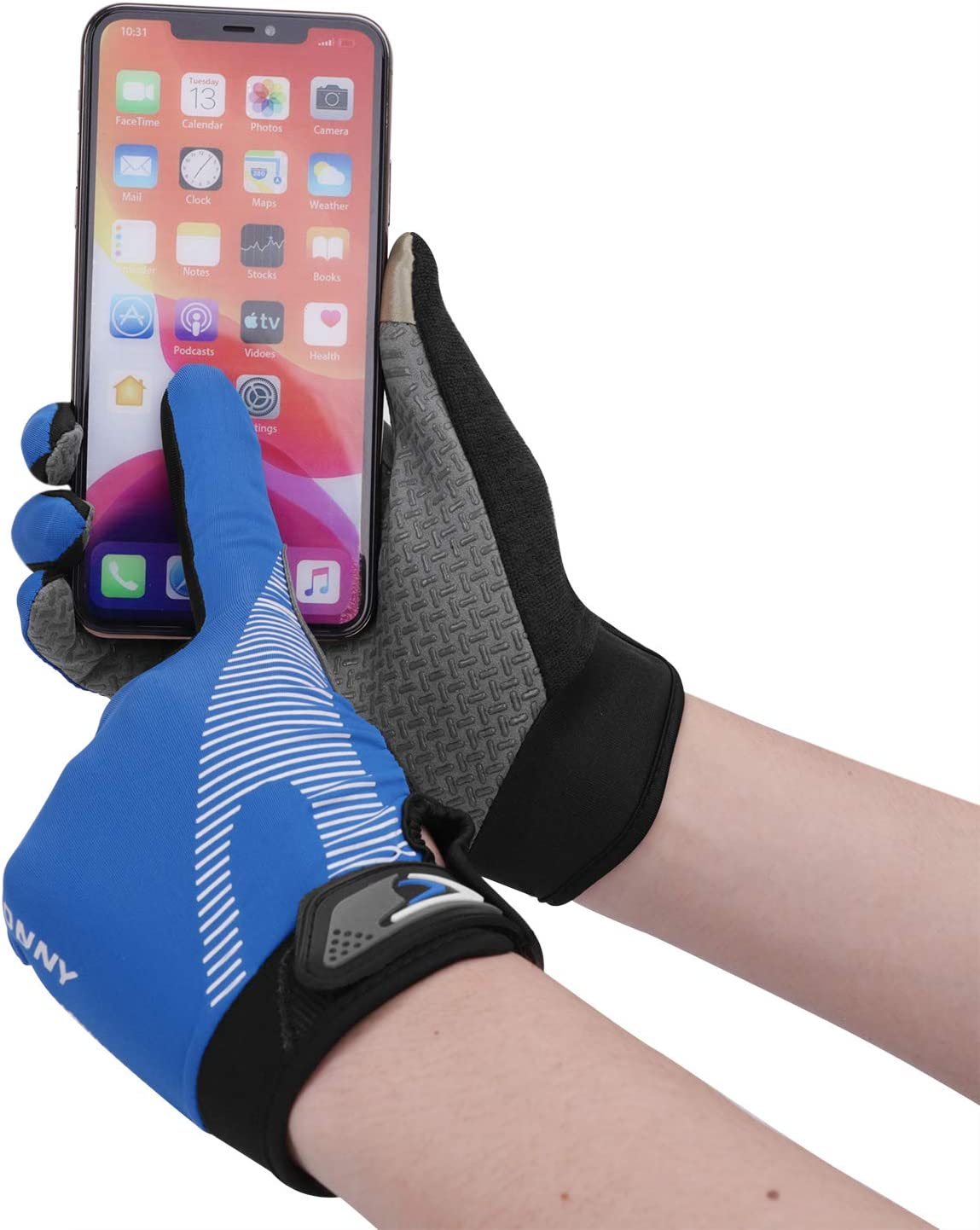 Touch Screen Gloves Full Finger Gloves for Men Women Climbing Workout Exercise Gloves Thin Summer Cooling Cycling Gloves