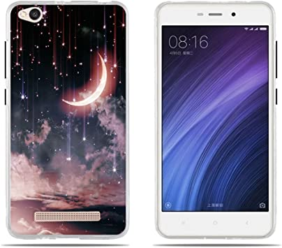DIKAS Fundas Carcasas para Xiaomi Redmi 4A, Funda Transparente de ...
