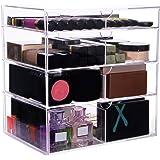"Lifewit Large Beauty Cube 4 Tier Drawers Acrylic Cosmetic Box Handmade Vanity Makeup Organizer Storage, 11.8""x11.8""x7.8"""