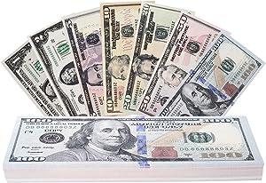 RUVINCE Play Money That Looks Real Prop Money Dollar $3,760 Fake Dollar Bills USD Cinema Props Prop Stack