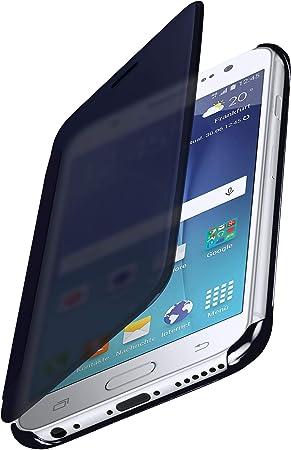 MoEx® Funda Protectora Fina Compatible con Samsung Galaxy J5 (2015)   Cristal Tintado Transparente, Bleu: Amazon.es: Electrónica