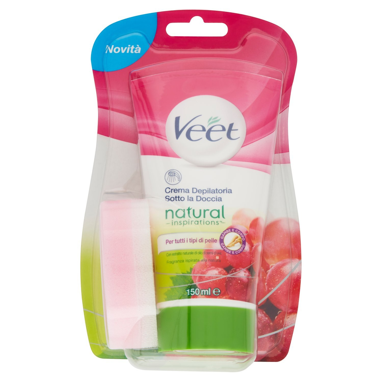 Veet En-Crema de Ducha Depilación para la piel seca con manteca de karité y Lily Fragancia: Amazon.es: Salud y cuidado personal