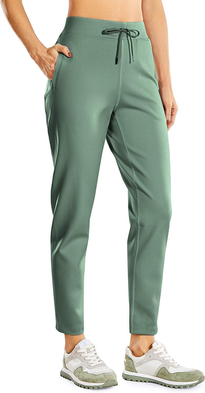 CRZ YOGA Mujer Pantalones de Ch/ándal con Cord/ón Pants de Entrenamiento con Cintura El/ástica Pantalones de Jogging con Bolsillos