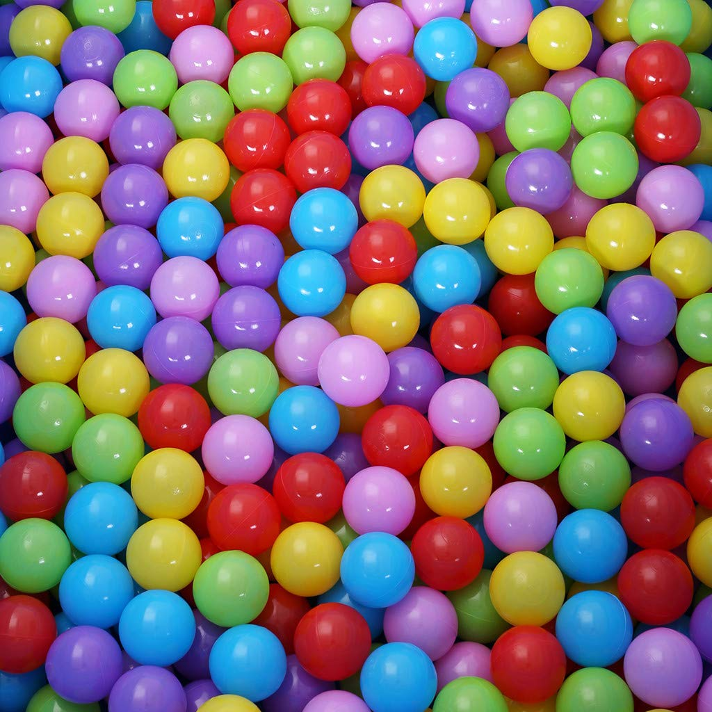 Yuege 100//200//400pcs Swim Fun Colorful Soft Plastic Ocean Ball Secure Baby Kid Pit Toy Ship from US 5.8cm//2.3inch Crush Proof Colorful Soft Plastic Phthalate /& BPA Free Playballs,