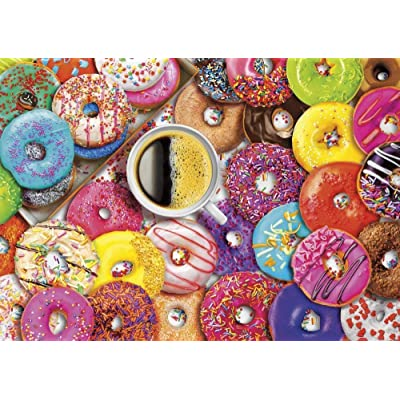 Jigsaw Puzzle Puzzle 1000 Pieces World Landscape Puzzle Cartoon Jigsaw Puzzles for Children Educational Toys New Year Gifts Donuts: Toys & Games
