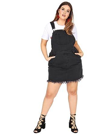 77f413a1fa5f8 Lovedrobe Koko Women s Plus Size Grey Denim Pinafore Dress (20 ...