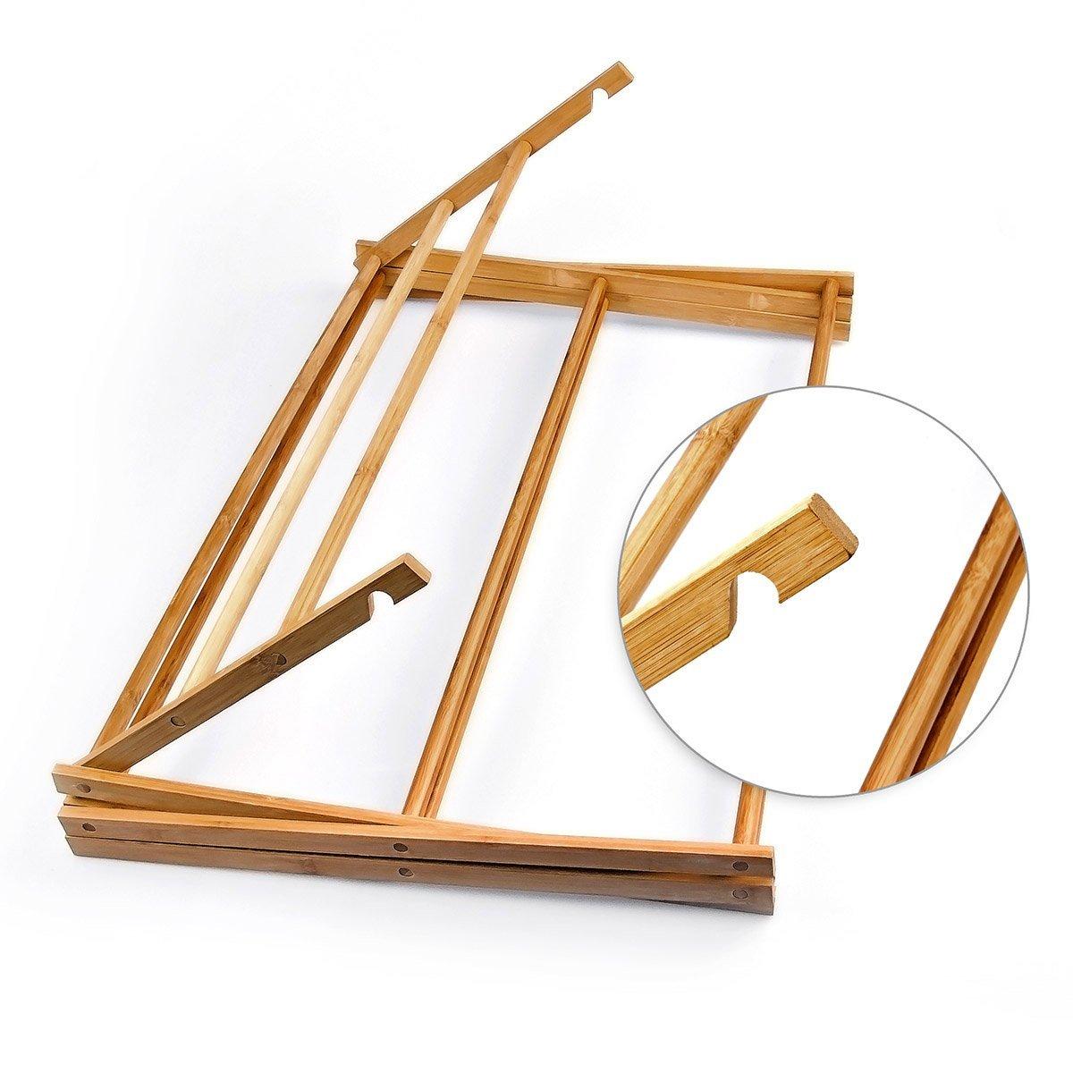 Relaxdays Handtuchhalter Bambus faltbar HBT 73 x 74 x 36 cm klappbarer Handtuchst/änder aus Holz mit 8 Handtuchstangen als platzsparender W/äschest/änder Herrendiener oder Handtuchtrockner natur