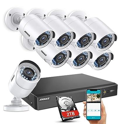 ANNKE Kit de videovigilancia 8CH 3MP DVR y 8 Cámaras de Seguridad de vigilancia de CCTV