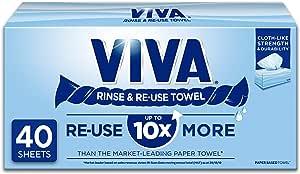 Viva Paper Towel Rinse & Re-Use Towel, 40 count