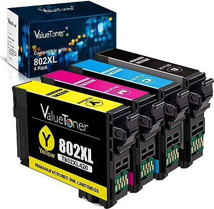 Amazon.com: Valuetoner - Cartuchos de tinta remanufacturados ...